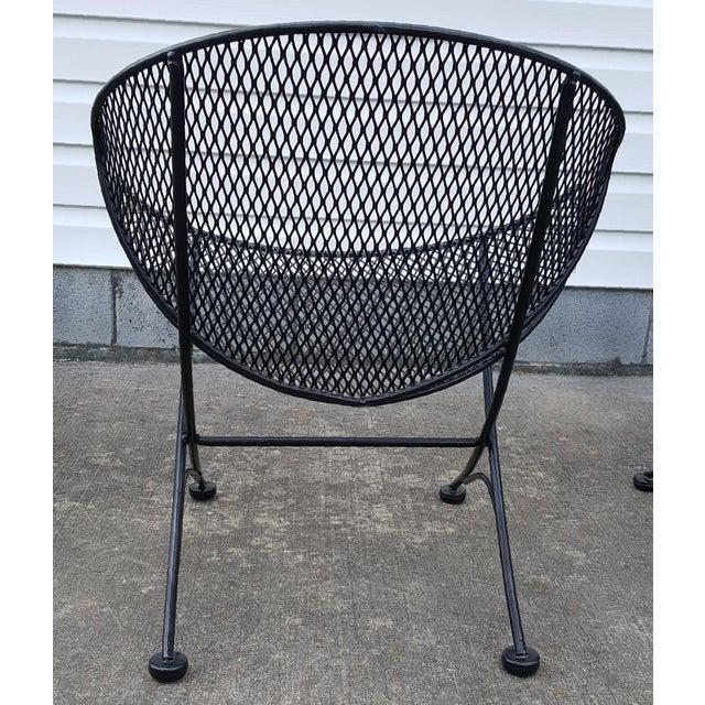 "Metal 1960s Vintage Tempestini for Salterini Patio Garden ""Clamshell"" ""Orange Slice"" Chair For Sale - Image 7 of 13"