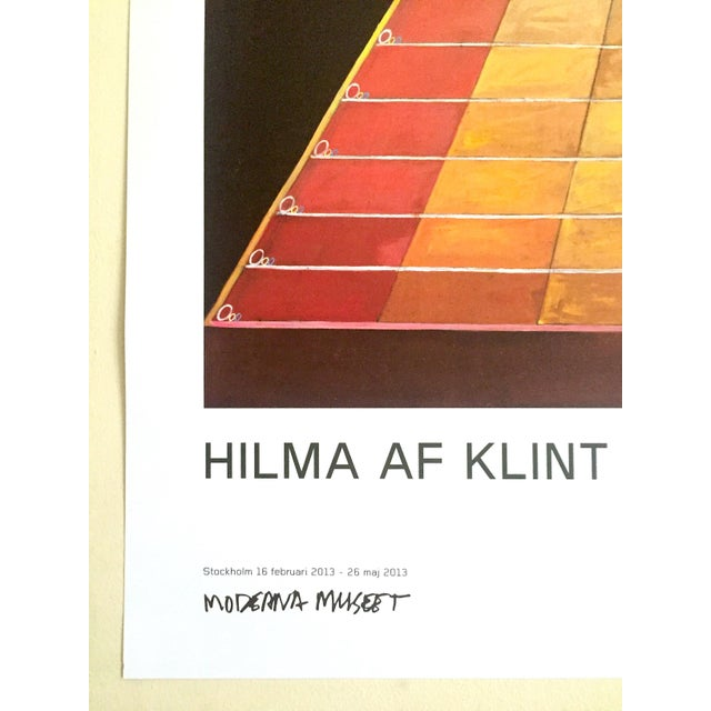 "Hilma Af Klint Abstract Lithograph Print Moderna Museet Sweden Exhibition Poster "" Altarpiece No.1 Group X "" 1915 For Sale - Image 11 of 13"