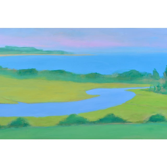 "Stephen Remick Large 32"" X 80"" Contemporary Painting, ""Summertime by the Ocean"", by Stephen Remick For Sale - Image 4 of 12"