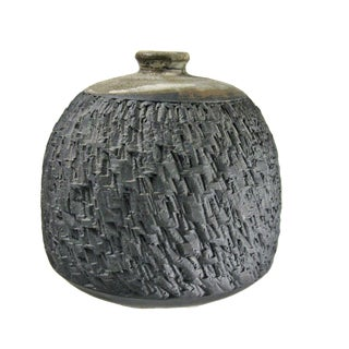 1970s Stoneware Vessel by Ishmael Soto For Sale