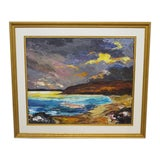 Image of Traditional Guy Roy Signed Modernist Oil Painting on Canvas For Sale