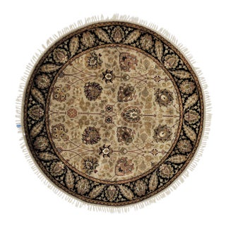 Traditional Wool Round Rug - 5' X 5' For Sale