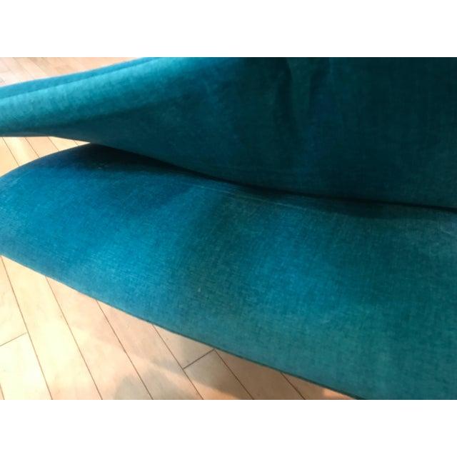 Mid-Century Modern Pair of Italian Chrome Lounge Chairs Restored Saporiti For Sale - Image 3 of 5