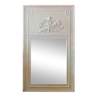 1970s French Louis XVI Style Trumeau Mirror For Sale