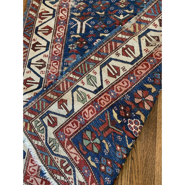 Early 20th Century Vintage Hand Knotted Rug- 3'2 X 5'7 For Sale - Image 5 of 6