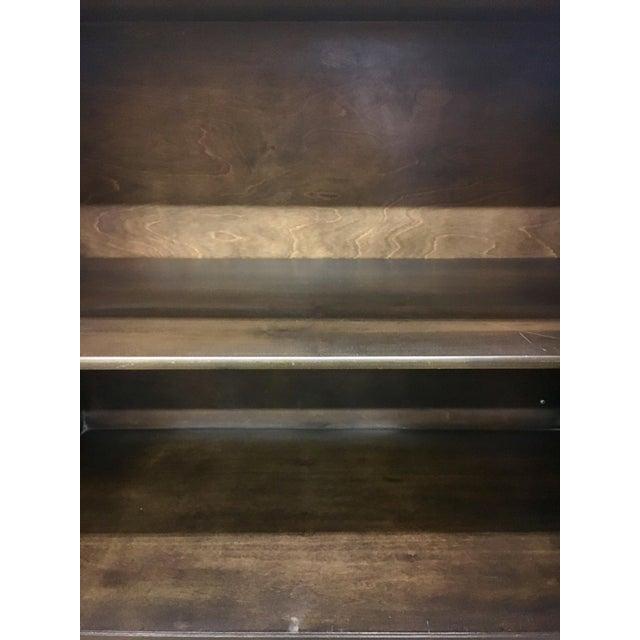 Bernhard Rohne Mastercraft Burled Carpathian Elm and Brass Buffet Server Bar For Sale - Image 9 of 10