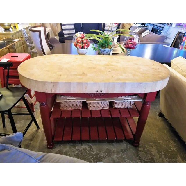 """This John Boos Butcher Block Island is such a unique and amazing piece. It features a 4"""" thick end grain hard maple top..."""