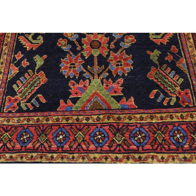 Baroque Antique Persian Malayer Rug Runner With Mina Khani - 3'5 X 16'4 For Sale - Image 3 of 10