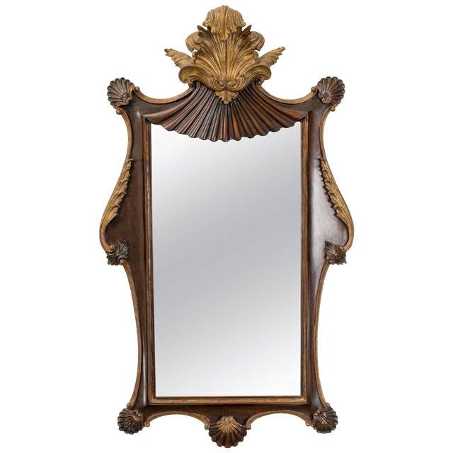 Antique Italian Giltwood Rococo Mirror For Sale