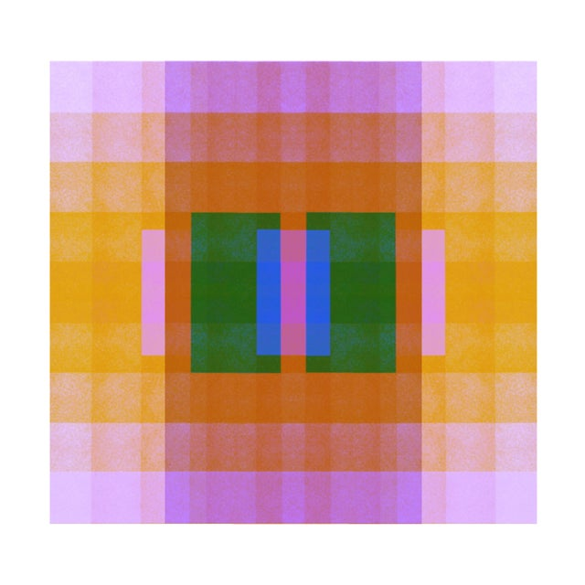 Abstract Color Space Series 33: Ultraviolet, Orange, Blue & Green For Sale - Image 3 of 3