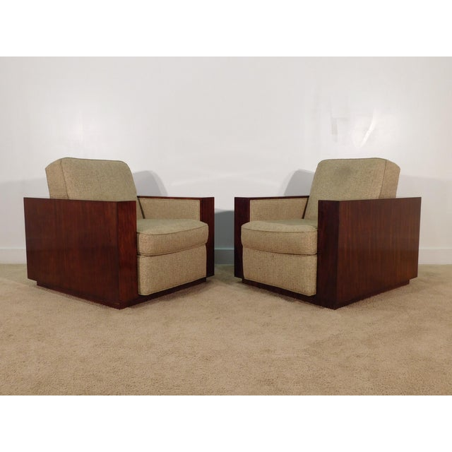 Henredon Ralph Lauren Rosewood Metropolis Collection Club Tub Deck Chairs- A Pair For Sale - Image 13 of 13