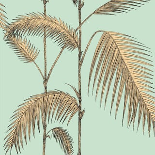 Cole & Son Palm Leaves Wallpaper Roll - Mint/Yellow For Sale