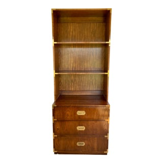 Late 20th Century Dixie Campaign Dresser With Shelves For Sale
