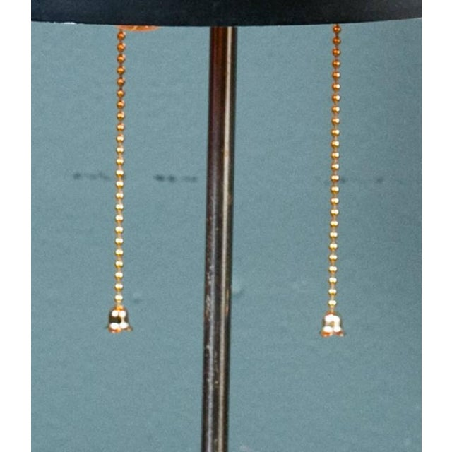 Black Mid-Century Modern Table Lamp With Round Metal Shade, Circa 1960 For Sale In Houston - Image 6 of 8