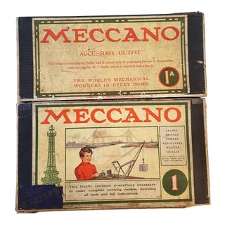 Antique Meccano 1 and 1A Engineering Toy Kits For Sale