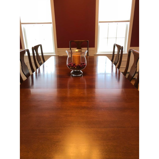 Craftique Solid Mahogany Dining Set For Sale - Image 4 of 10