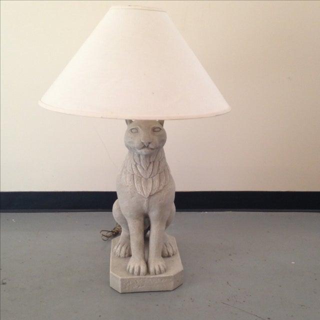 Regal Stone Cat Lamp - Image 2 of 5