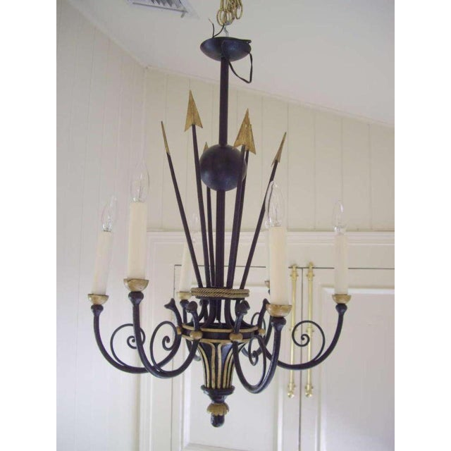 French Empire Style Six Light Chandelier For Sale In New Orleans - Image 6 of 7