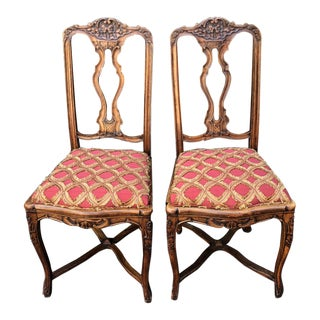 Pair of Antique French Provincial Side or Breakfast Chairs For Sale