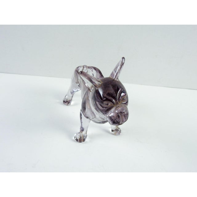 French Bull Dog Figural Glass Dish - Image 5 of 6
