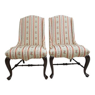 Ethan Allen Slipper Dining Rest Chairs - a Pair