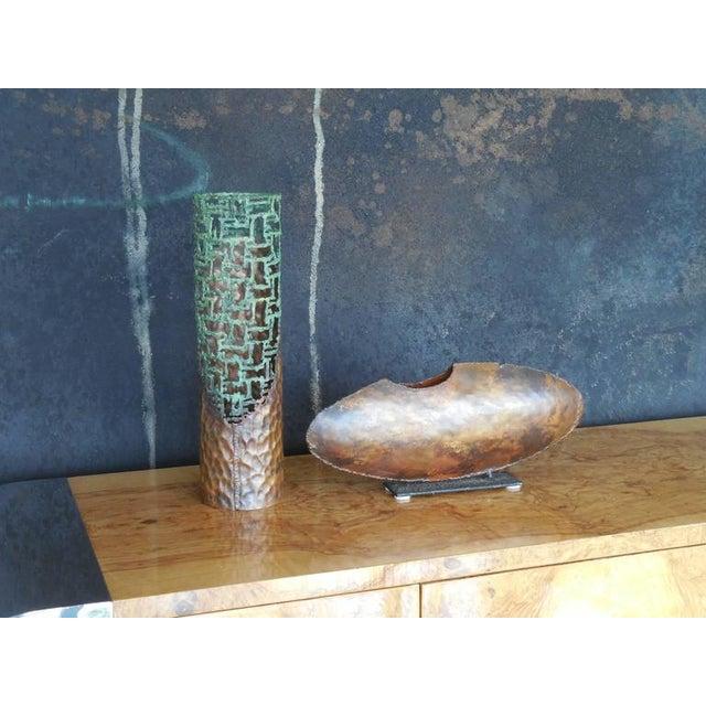 Marcello Fantoni Brutalist Asymmetrical Mid-Century Vase by Fantoni For Sale - Image 4 of 6