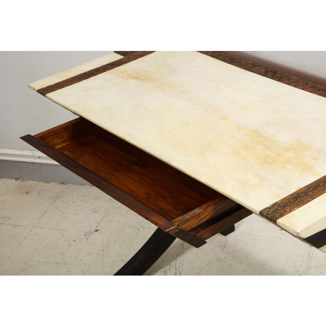 Brown Carlo Bugatti-Style Writing Desk with Chair For Sale - Image 8 of 12