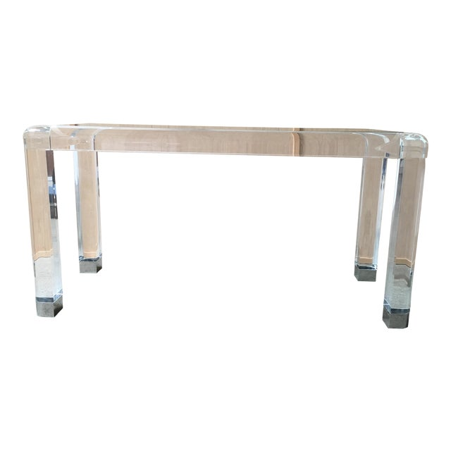 20th Century Lucite Console Table For Sale