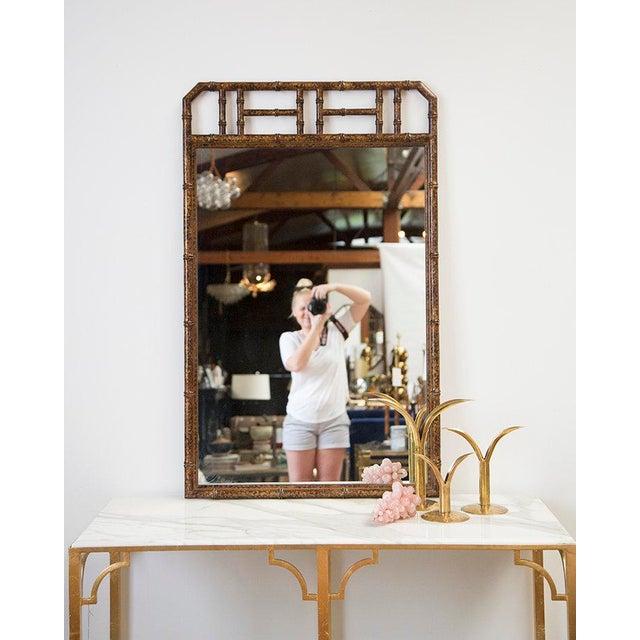 Bamboo Form Frame Tortoiseshell Mirror For Sale - Image 5 of 5