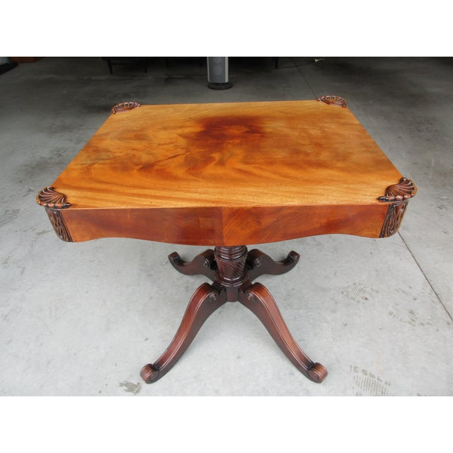 Wood Antique Pedestal Side or Accent Table For Sale - Image 7 of 11