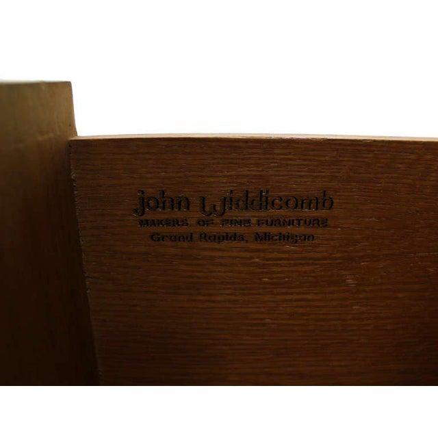 Rosewood John Widdicomb Mid-Century Modern Walnut High Chest Dresser For Sale - Image 7 of 9