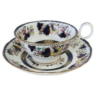 Antique English Porcelain Cup & Saucer For Sale