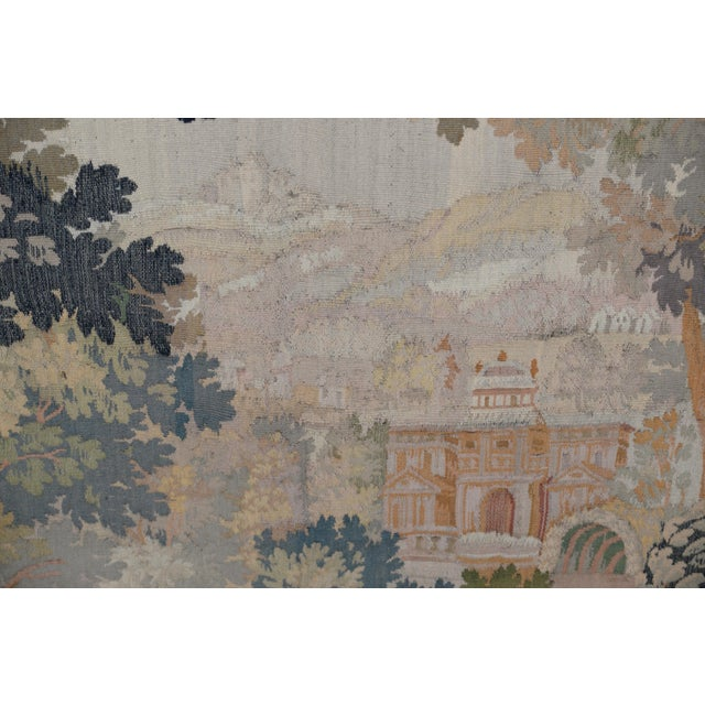 Fine Antique European Tapestry Depicting a Country Scene With Dogs For Sale - Image 9 of 13