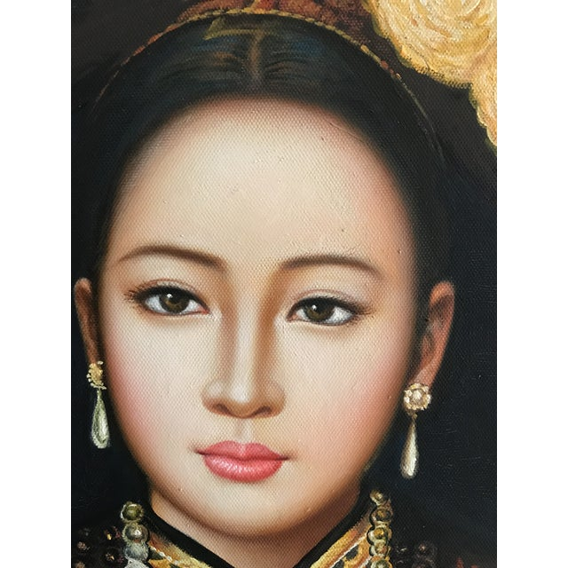 Lovely original portrait of an asian woman. Purchased from and estate in California. This painting had been in the family...