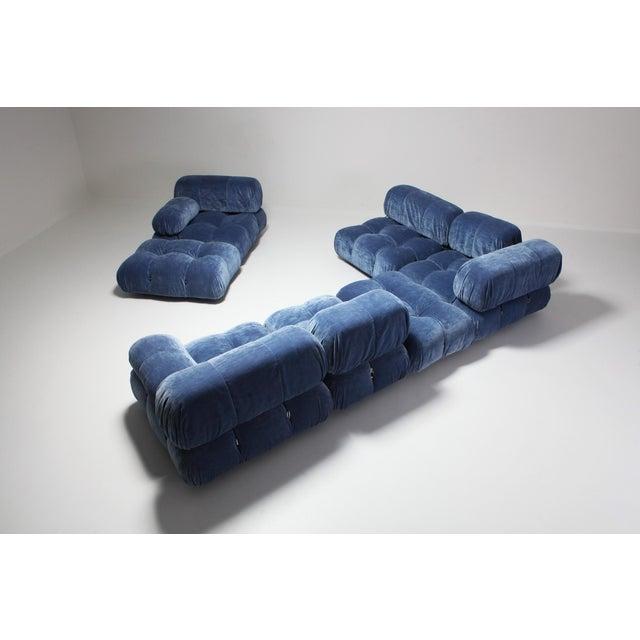 Mario Bellini Mario Bellini Camaleonda Sectional Sofa in Blue Velvet For Sale - Image 4 of 9