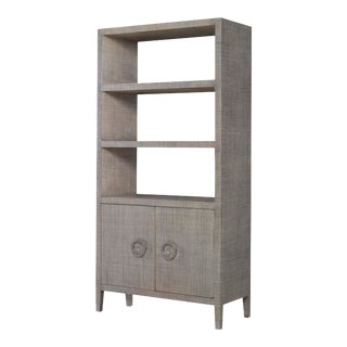 Century Furniture Charleston Bookcase, French Grey For Sale