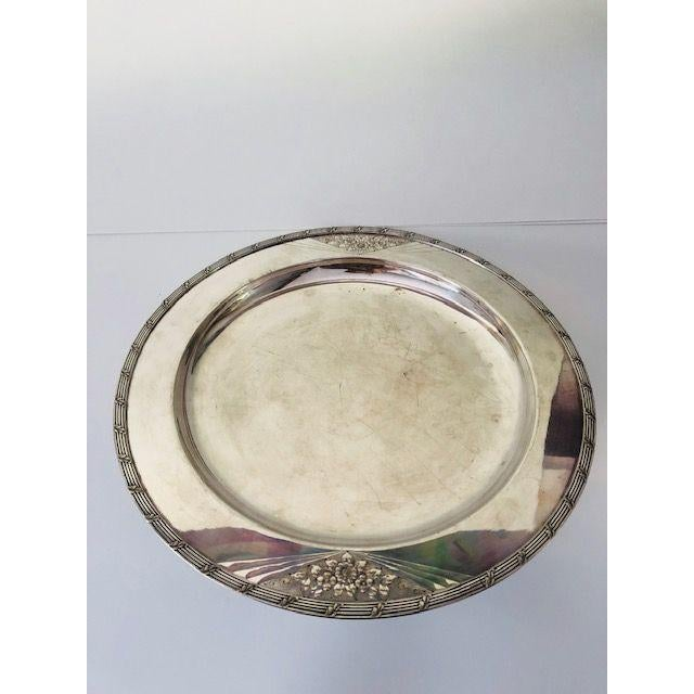 Vintage International Silver Company Barbour s.p. Co. Serving Tray For Sale In New York - Image 6 of 6
