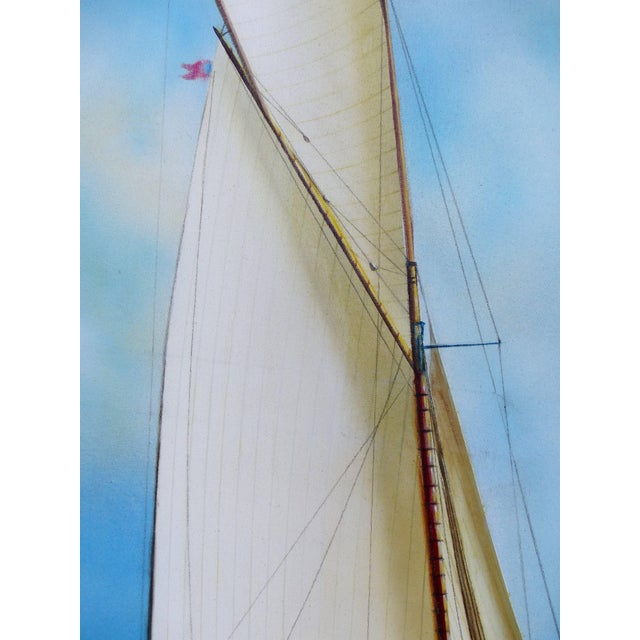 """Modern Argentine Artist Gabriel Duarte Nautical Painting """"New Bounty"""" For Sale - Image 3 of 11"""