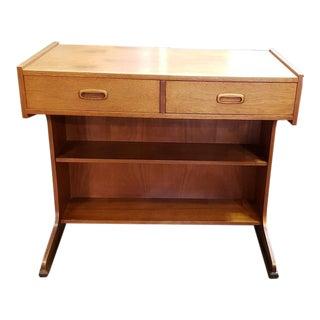 Stylish Mid Century Teak Desk W/ Two Drawers C.1960s For Sale