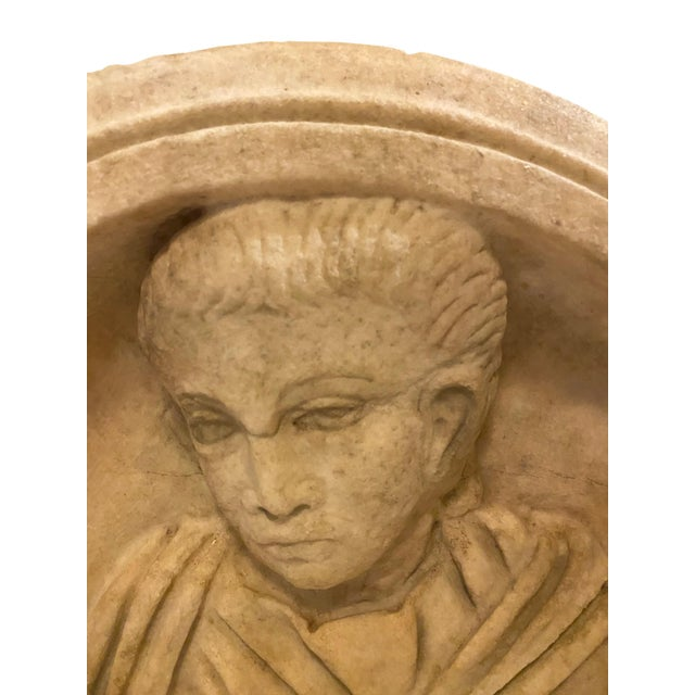 Illustration Ancient Roman Carved Marble Roundel For Sale - Image 3 of 11