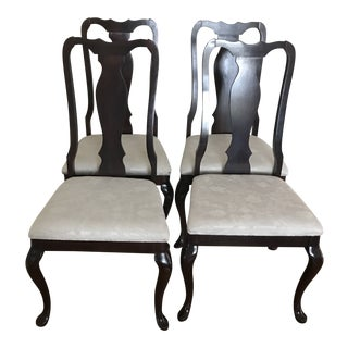 Late 20th Century Queen Anne Dining Room Side Chairs- Set of 4 For Sale