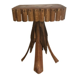 Early 20th Century American Rustic Adirondack Twig Stand Table