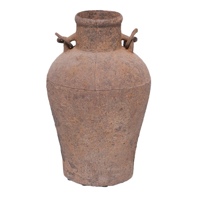 19th Century Chinese Cast Iron Vessel For Sale