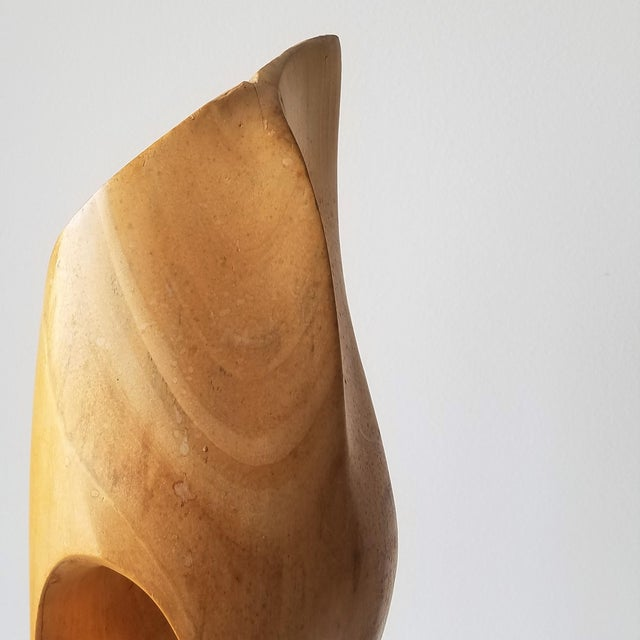 """Wood 1971 """"Calming"""" Abstract Wood Sculpture by John Graham For Sale - Image 7 of 13"""