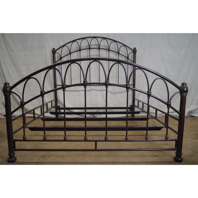 Victorian Style Iron Queen Size Bed - Image 2 of 10
