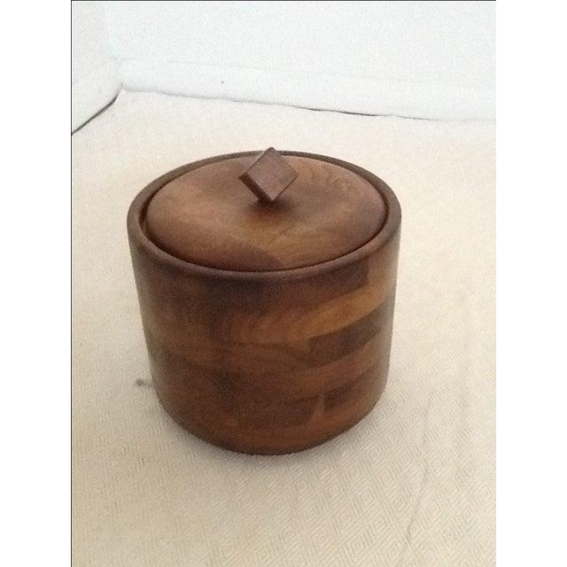 Mid-Century Modern Mid-Century Wood Ice Bucket For Sale - Image 3 of 5