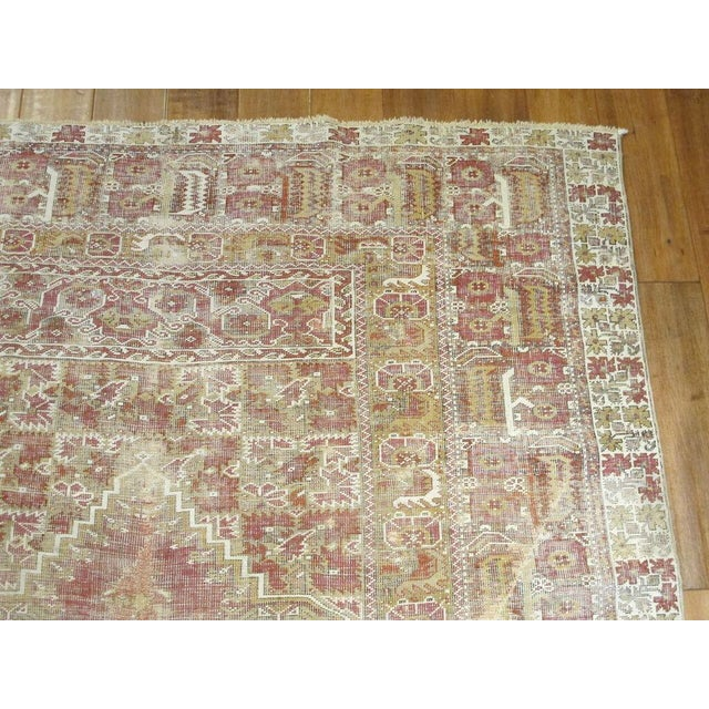 "Antique Ghiordes Rug Origin: Anatolia Circa: 1880 US Size: 5 ' 0 "" x 7 ' 10 "" Metric Size: 1.52 x 2.39 meters"