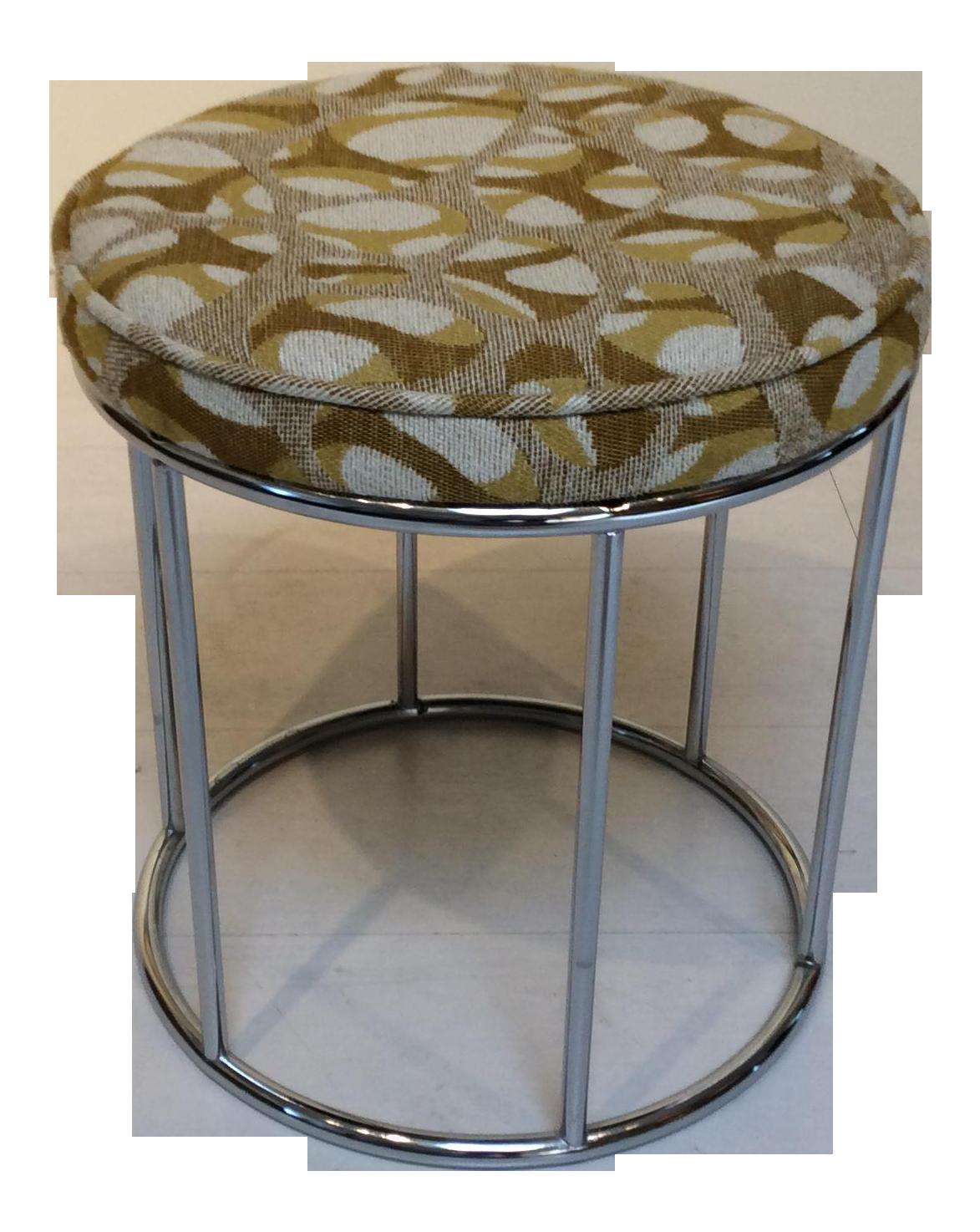 Mid Century Modern Upholstered Vanity Stool Chairish