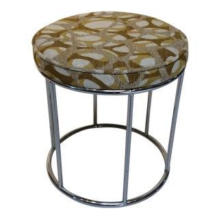 Mid-Century Modern Upholstered Vanity Stool For Sale
