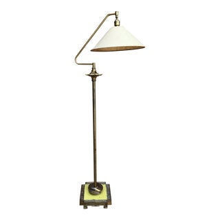 1930's Art Deco Brass Floor Lamp For Sale